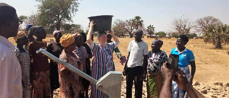 Shel at a completed borehole well.